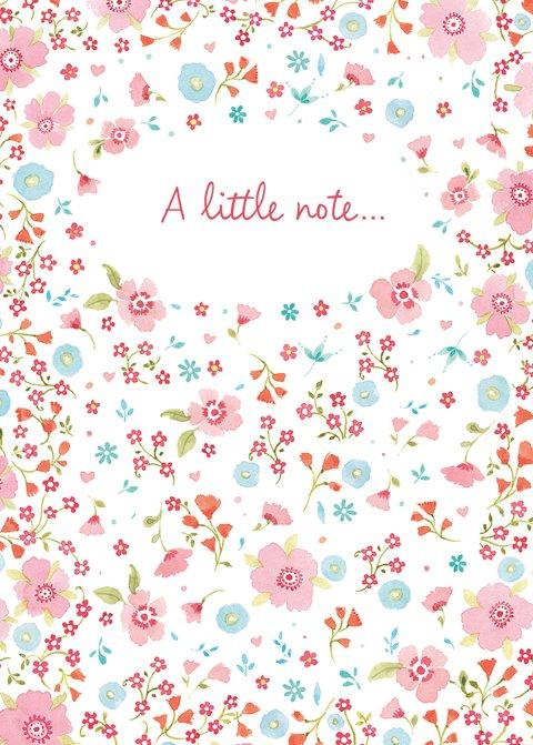 Flowery Note