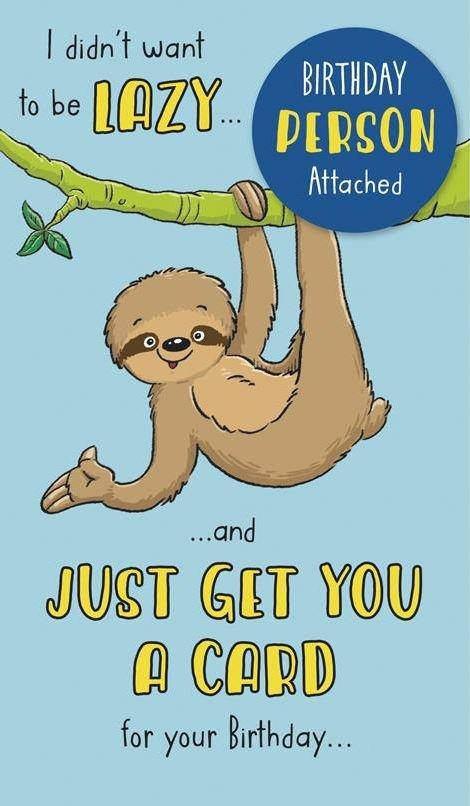 Sloth Lazy card