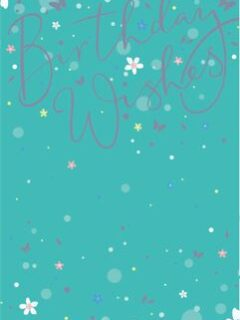 Sparkly text wishes